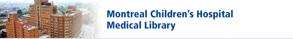 Montreal Children's Hospital Medical Library